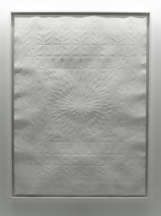 Nadir Valente, Small Carpet, Embossed papaer, 100x70cm, 2016
