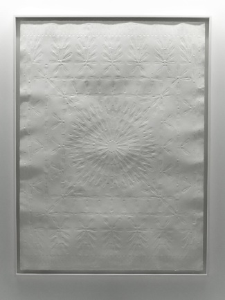 Nadir Valente, Small Carpet, Embossed papaer, 100x70cm, 2016