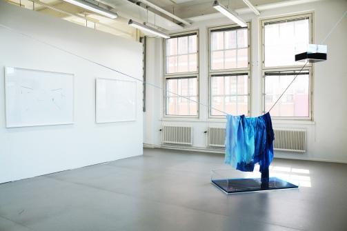 Josefina Nelimarkka, Wet painting impromptu, installation view