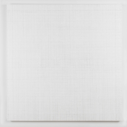 Gregory Hayes, Mergence (White), 40X40in, acrylic on canvas, 2015