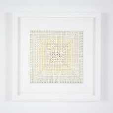 Gregory Hayes, Untitled (B), acrylic on paper, 12x12in, 2015