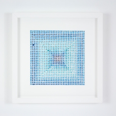 Gregory Hayes, Untitled (D), acrylic on paper, 12x12in, 2015