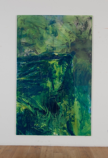 Zehra Arslan, Elbrus, Oil, plastic, varnish on canvas, 240x150cm, 2015