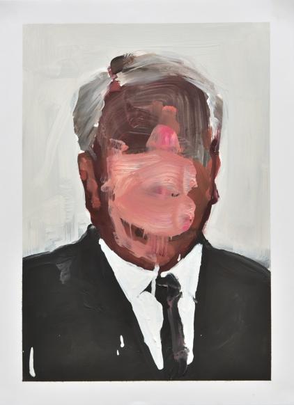 Daniele Galliano, oil on paper, 2016