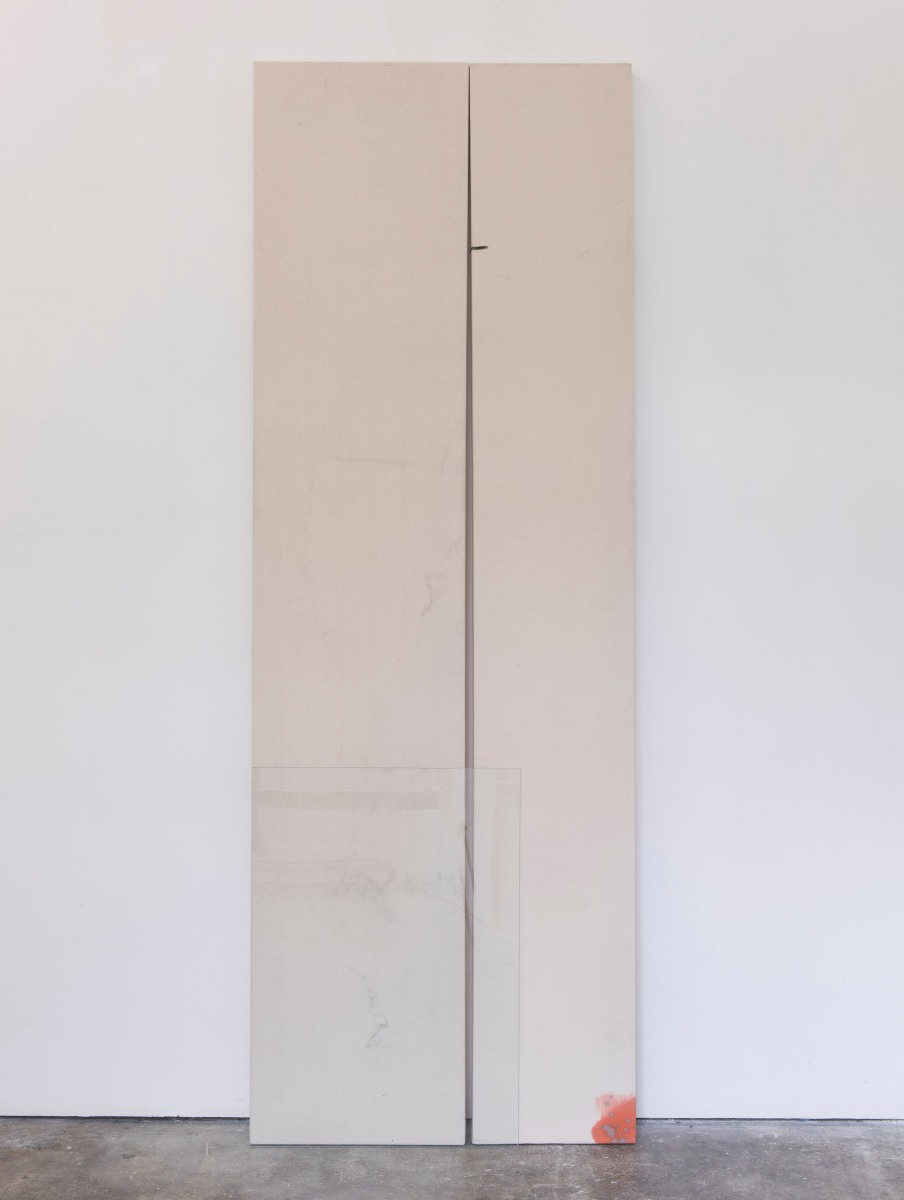 Zehra Arslan, Ich mein' das doch nicht so, Oil, emulsion on canvas, glass, 200 x 71 cm, 2016