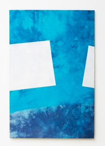 Botanics: within hyphenations, acrylic and pigments on canvas, 2015