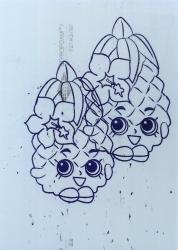 Cristiano Tassinari, Rings of saturn (pineapple), 86x61x2cm, oil on styrofoam, 2017