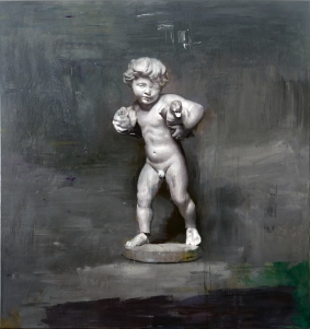 Cristiano Tassinari, Putto (Mother's Bliss), 160x170cm, Oil on canvas, 2018