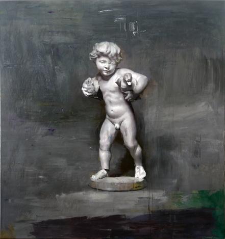 Cristiano Tassinari, Putto (Mother's Bliss), 160x170cm, Oil on canvas, 2018