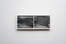 Ruben Brulat, Corps Traverses, plaster, glass, inkjet on paper, ground earth, 26x51cm, 2019-2020