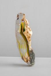 Ruben Brulat, Enfouir, plaster, scanned images, inkjet on paper, ground earth, 2019-2020
