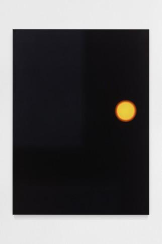 Goncalo Preto, MYOPIA (orange), 2020, Oil on wood, 73×54cm