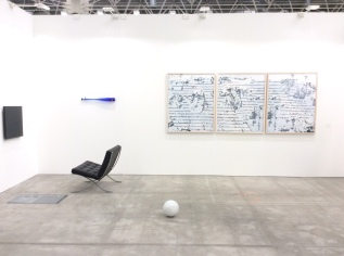 Installation view of Run Home, Charlie and A long long time ago, in a galaxy far away…
