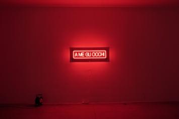Ruth Beraha, A me gli occhi, Neon light, 2020